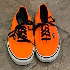 Vans Orange Sneakers Mens 7 / Womans 8.5